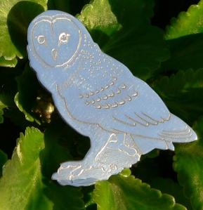 brooch barn owl L2